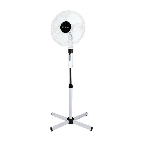 Ανεμιστήρας Ορθοστάτης 16'' 40CM PRSF-80501 Primo Λευκός-Μαύρος 4Φτερά 50W