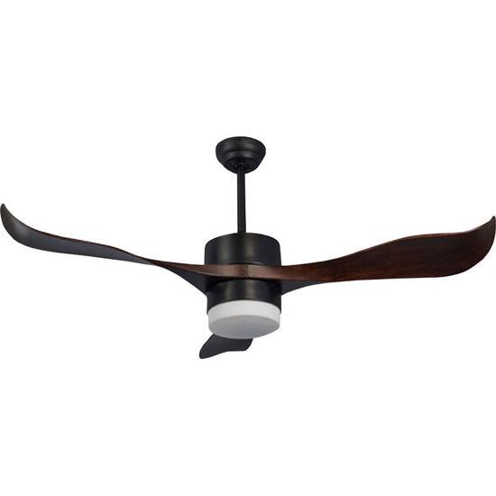 Εικόνα της Ανεμιστήρας Οροφής 56'' 140CM PRCF-80437 Primo Μαύρο/Καφέ Led Με Τηλεχειριστήριο DC