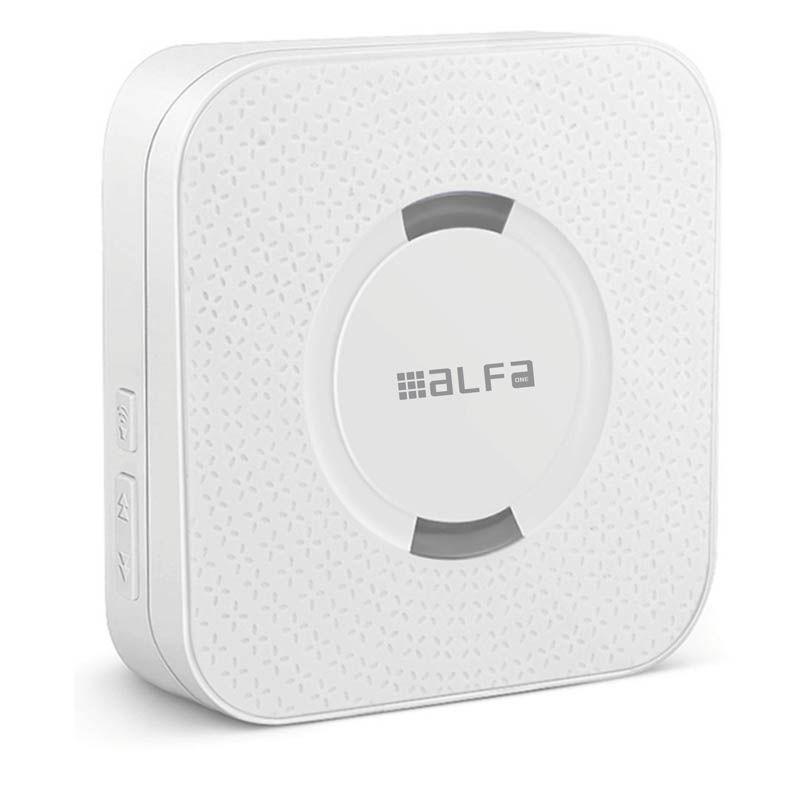 Εικόνα της Κουδούνι ασύρματο ALDB-71001 Alfaone Μπαταρίας 300m Εμβέλεια Λευκό