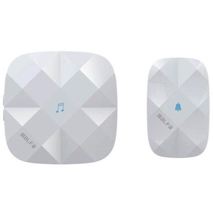 """Εικόνα της Κουδούνι ασύρματο ALDB-71003 Alfaone Ρεύματος """"Diamond"""" με εξωτερικό διακόπτη αφής 250m Εμβέλεια Λευκό"""