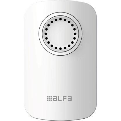 Εικόνα της Κουδούνι ασύρματο ALDP-71000 Alfaone Ρεύματος με ανιχνευτή κίνησης PIR 150m Εμβέλεια Λευκό/Chrome