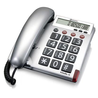Εικόνα της Τηλέφωνο  Επιτραπέζιο AMPLICOMMS BigTel 48 Ασημί