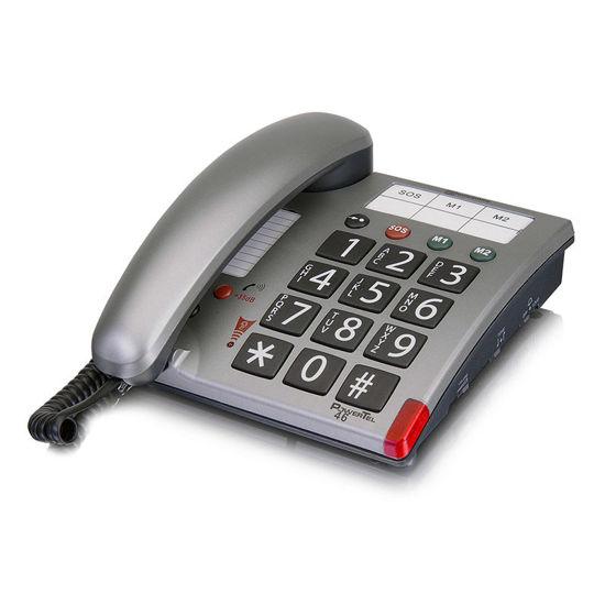 Εικόνα της Τηλέφωνο  Επιτραπέζιο AMPLICOMMS PowerTel 46 Ασημί