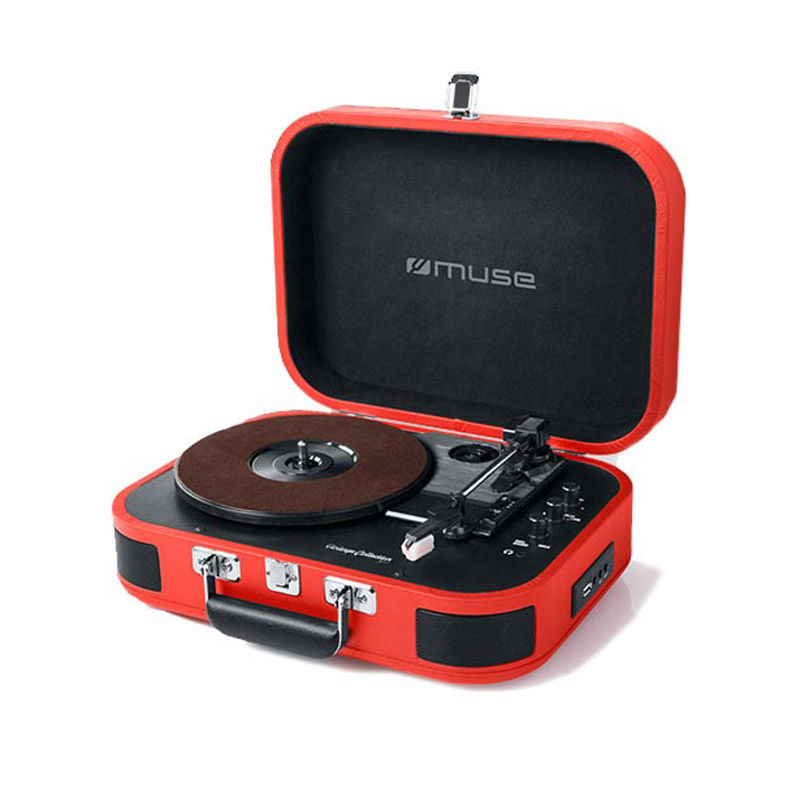 Εικόνα της Πικάπ-Bluetooth Με Usb MT-201BTR MUSE Kόκκινο