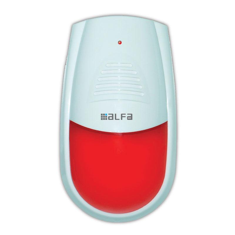 Εικόνα της Ομοίωμα σειρήνας D8128S Alfaone με Flash light διαστάσεις 115*196*68mm Λευκό