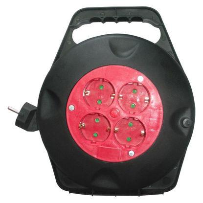 Εικόνα της Μπαλαντέζα DG-XDB04 Alfaone Σούκο καρούλι 3x1,5mm 10m Κόκκινο-Μαύρο
