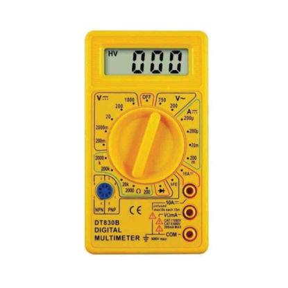 Εικόνα της Πολύμετρο DT830B Alfaone Ψηφιακό Κίτρινο