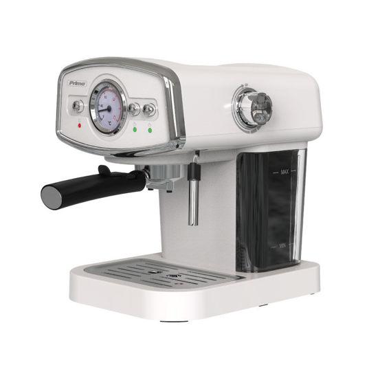 Εικόνα της Μηχανή Καφέ Espresso PREM-40312 Primo Eco 19Bar Με αναλογικό καντράν θερμοκρασίας Ιβουάρ-Chrome