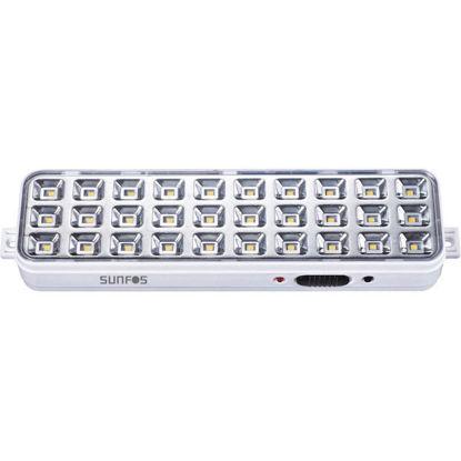 Εικόνα της Φωτιστικό Ασφαλείας LT-9830K Sunfos 30Led Μπαταρία λιθίου 3.7V – 1200mAh Λευκό
