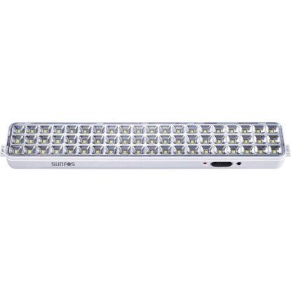 Εικόνα της Φωτιστικό Ασφαλείας LT-9860K Sunfos 60Led Μπαταρία λιθίου 3.7V – 2000mAh Λευκό