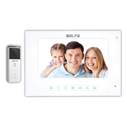 """Εικόνα της Θυροτηλεόραση M478J3+P2059J Alfaone Έγχρωμο Set ελέγχου εισόδου μονοκατοικίας 7"""" Λευκό"""