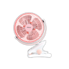 Εικόνα της Ανεμιστήρας Mini Mε Κλιπ 8'' 20CM PRMF-80471 Primo Λευκό-Ροζ Με Usb