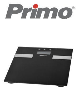 Εικόνα της Ζυγαριά Σώματος Λιπομετρητής PRBS-40332 Primo 180Kg Υάλινη Μαύρη-Inox