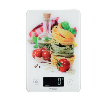 """Εικόνα της Ζυγαριά Κουζίνας PRKS-40348 Primo Ψηφιακή 5Kg-1g Φωτιζόμενη οθόνη Υάλινη """"La Spaghetti"""""""