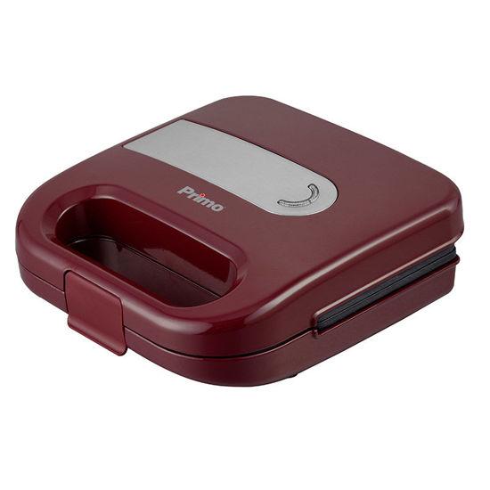 Εικόνα της Τοστιέρα PRSM-40328 Primo 2Θέσεων Αντικολλητικές γκριλ πλάκες Κόκκινη-Inox
