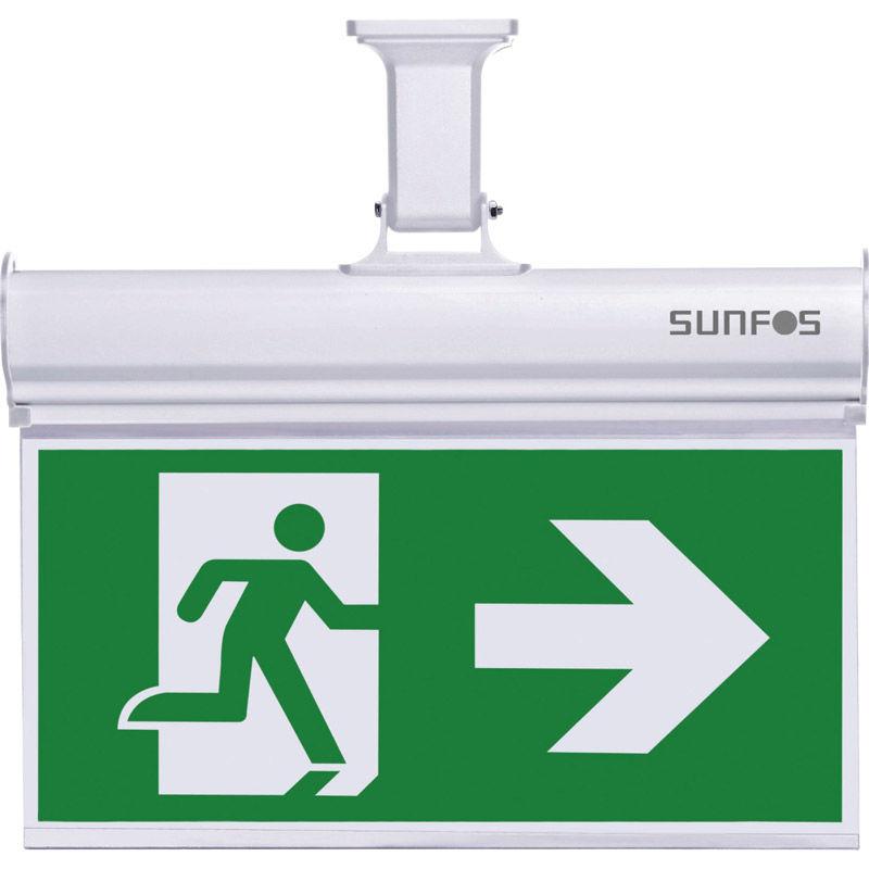 Εικόνα της Φωτιστικό Ασφαλείας/Πινακίδα SUEL-30147 Sunfos Με 2 Σετ Σημάτων 10Led 1.2V 1000mAh Λευκό
