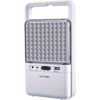 Εικόνα της Φωτιστικό Ασφαλείας SUΕL-30145 Sunfos 90Led Με θύρα USB 6V 4.5Ah Λευκό