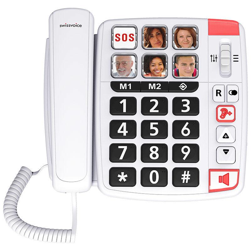 Εικόνα της Τηλέφωνο  Επιτραπέζιο SWISSVOICE Xtra 1110 Λευκό