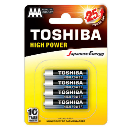 Εικόνα της Μπαταρία TOSHIBA AAA - LR03GCP BP-4