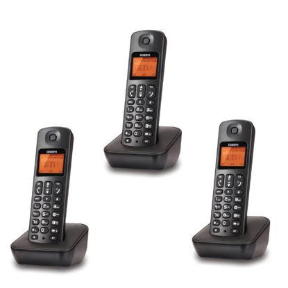 Εικόνα της Τηλέφωνο Ασύρματο TRIPLE UNIDEN AT-3100-3 Μαύρο