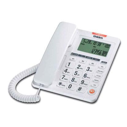 Εικόνα της Τηλέφωνο  Επιτραπέζιο  με οθόνη UNIDEN AS7408 Λευκό