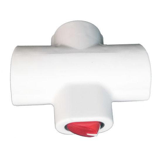 Εικόνα της Adaptor GZBK01/03 Alfaone Σούκο σταυρός 1Χ3 με διακόπτη Λευκό