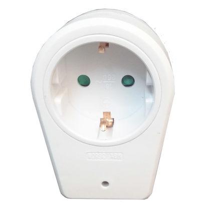 Εικόνα της Adaptor KF-GZBD-01/01 Alfaone Πρίζα σούκο μονή με προστασία υπέρτασης Λευκή